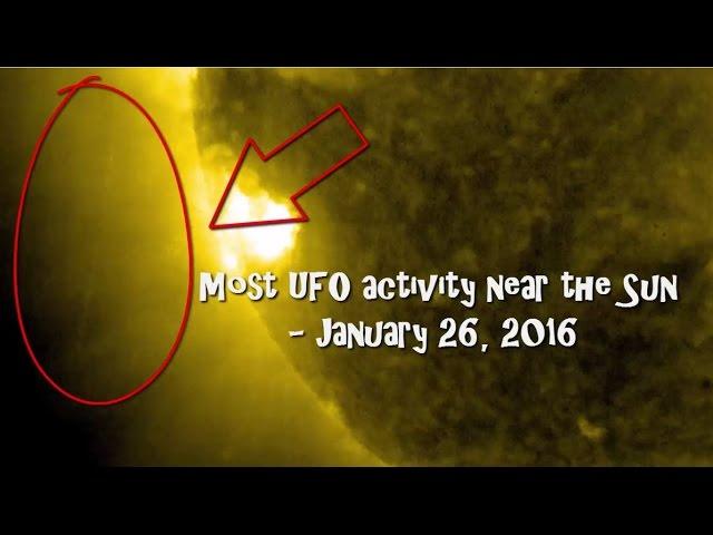 НЛО рядом с Солнцем 26 января 2016