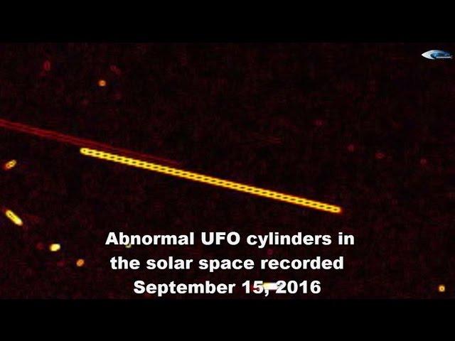 НЛО у Солнца 15 сентября 2016