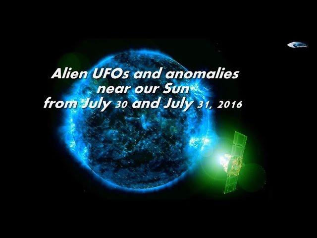 НЛО у Солнца 30 и 31 июля 2016