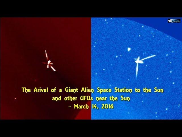 НЛО у Солнца 14 марта 2016