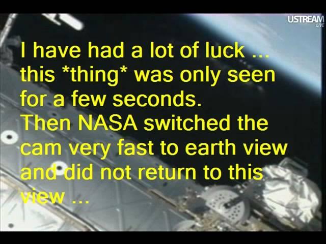 НЛО рядом с МКС