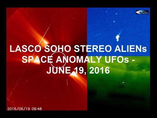 НЛО у Солнца 19 июня 2016