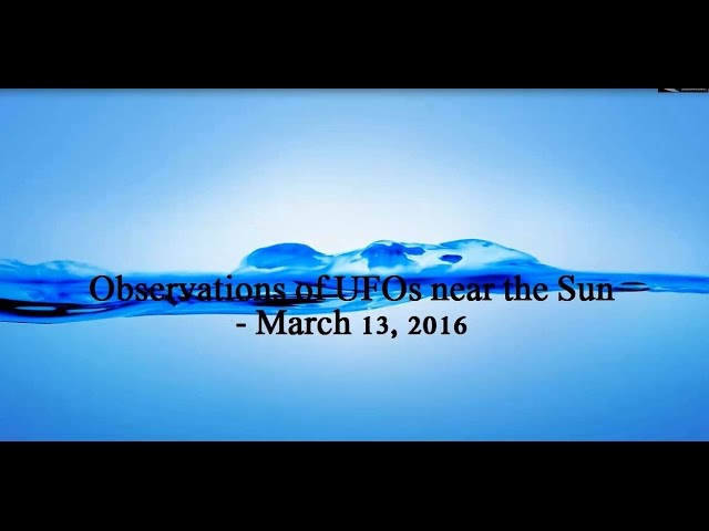 НЛО у Солнца 13 марта 2016