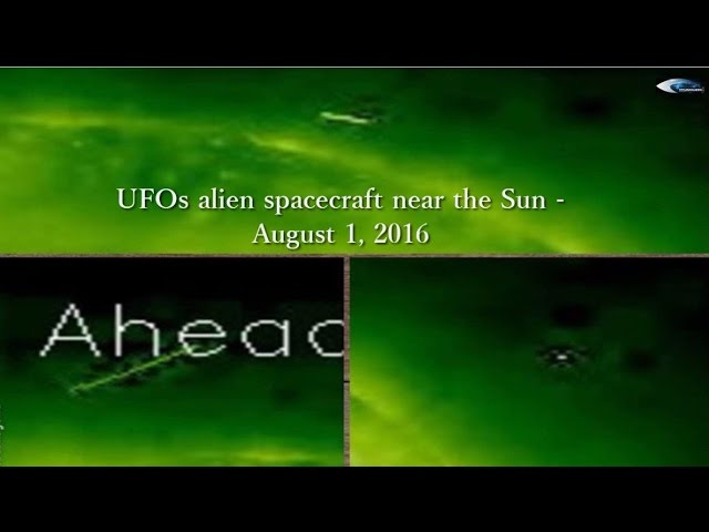 НЛО у Солнца 1 августа 2016