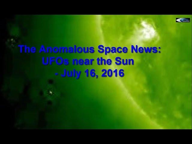 НЛО у Солнца 16 июля 2016
