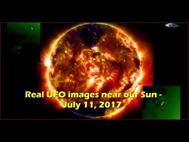 НЛО у Солнца 11 июля 2017