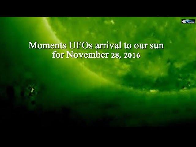 НЛО у Солнца 28 ноября 2016