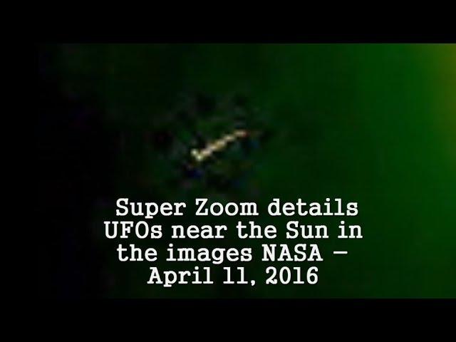 НЛО у Солнца 11 апреля 2016