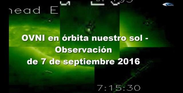 НЛО у Солнца 7 сентября 2016