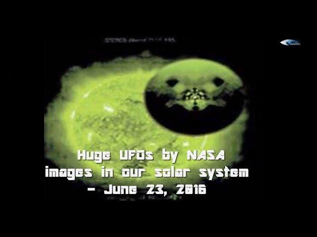 НЛО у Солнца 23 июня 2016