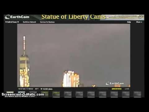 Видео НЛО в Нью-Йорке