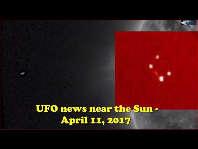 НЛО у Солнца 11 апреля 2017