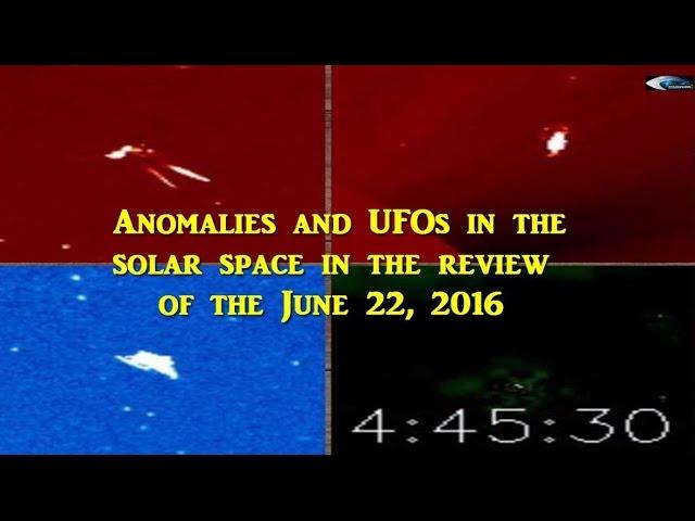 НЛО у Солнца 22 июня 2016