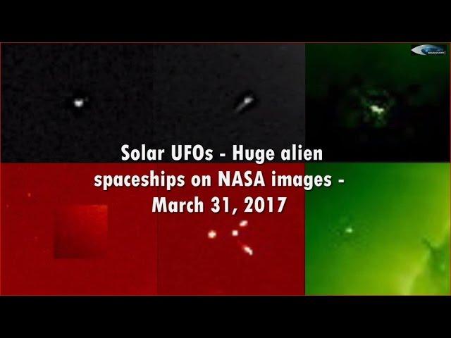 НЛО у Солнца 31 марта 2017