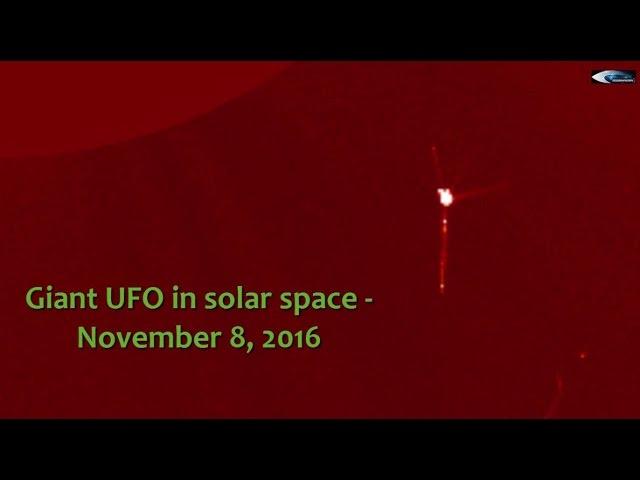 НЛО у Солнца 8 ноября 2016