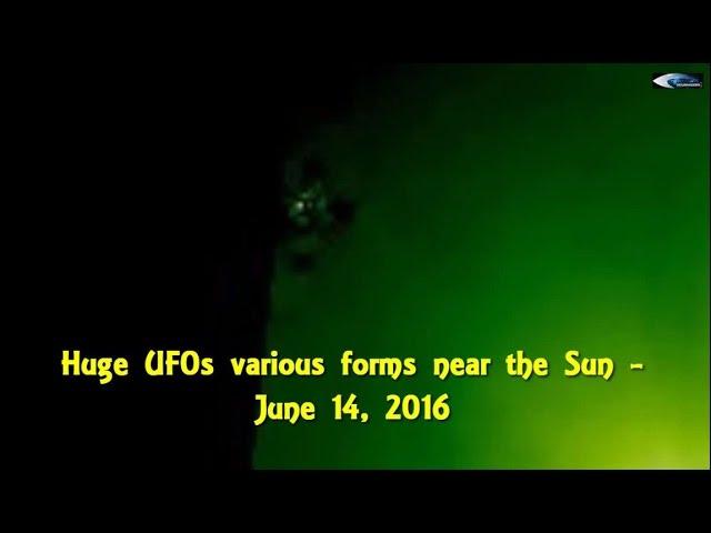 НЛО у Солнца 14 июня 2016