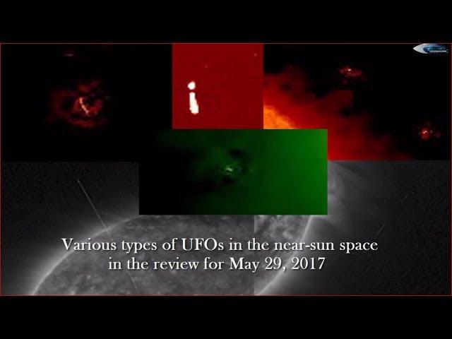 НЛО у Солнца 29 мая 2017