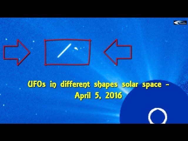 НЛО у Солнца 5 апреля 2016