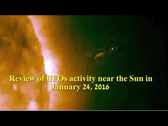 НЛО возле Солнца 24 января 2016