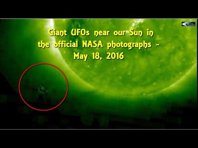НЛО у Солнца в обзоре за 18 мая 2016