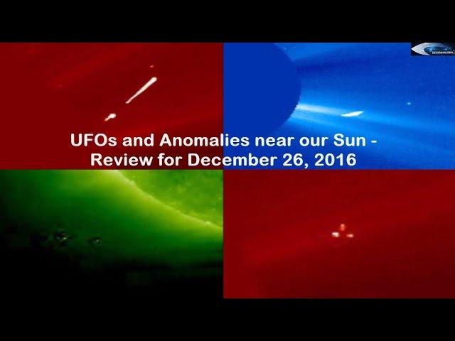 НЛО у Солнца 26 декабря 2016