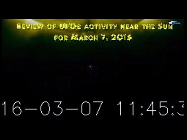 НЛО у Солнца 7 марта 2016
