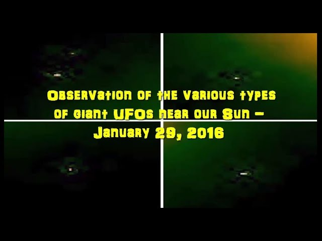 НЛО возле Солнца 29 января 2016