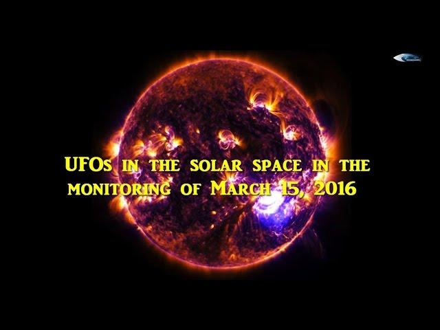 НЛО у Солнца 15 марта 2016