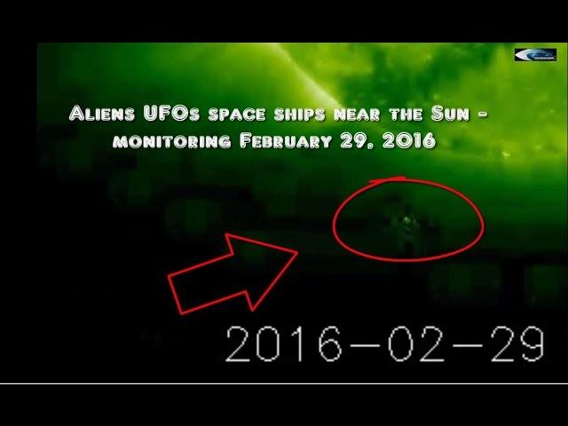 НЛО возле Солнца 29 февраля 2016