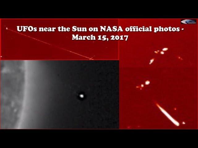 НЛО у Солнца 15 марта 2017