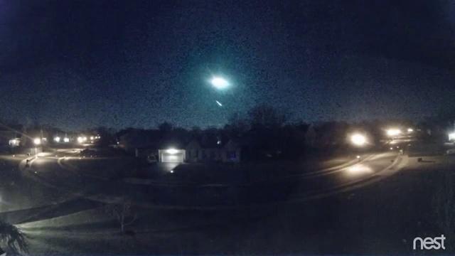 Над 11 американскими штатами наблюдали полет метеорита