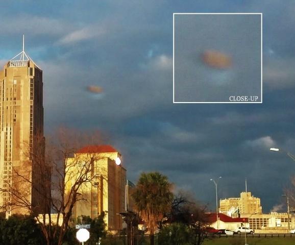 Облакообразный НЛО над Сан-Антонио