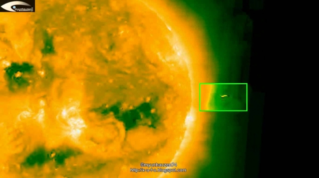 Видео НЛО возле Солнца