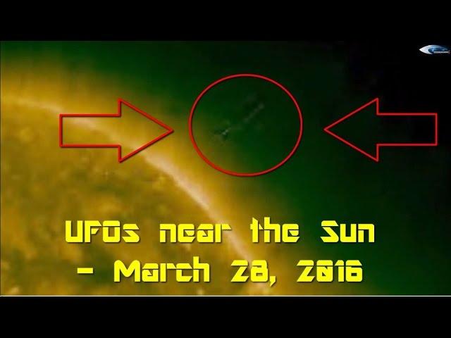 НЛО у Солнца - 28 марта 2016