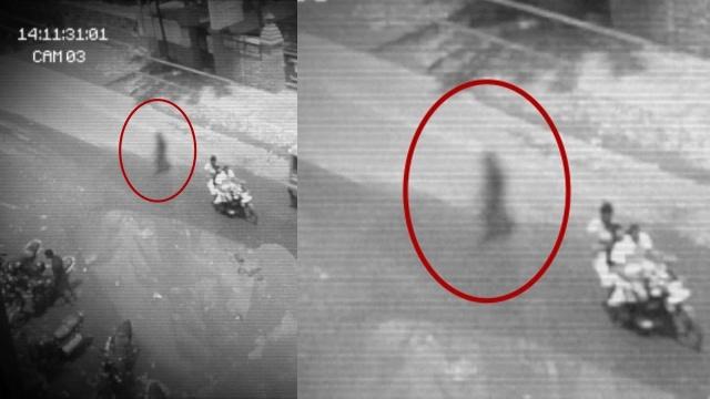 Видео призрак переходит дорогу
