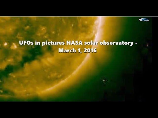 НЛО у Солнца 1 марта 2016