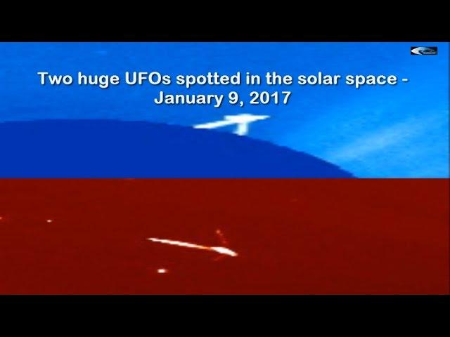 НЛО у Солнца 9 января 2017