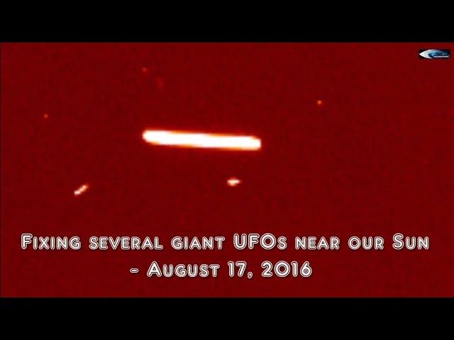 НЛО у Солнца 17 августа 2016