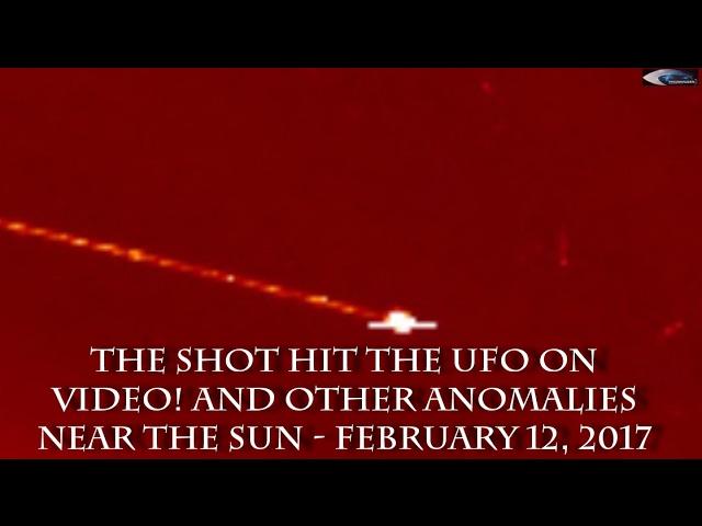 НЛО у Солнца 12 февраля 2017 (2)