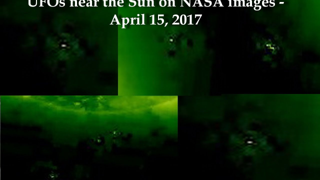НЛО у Солнца 15 апреля 2017