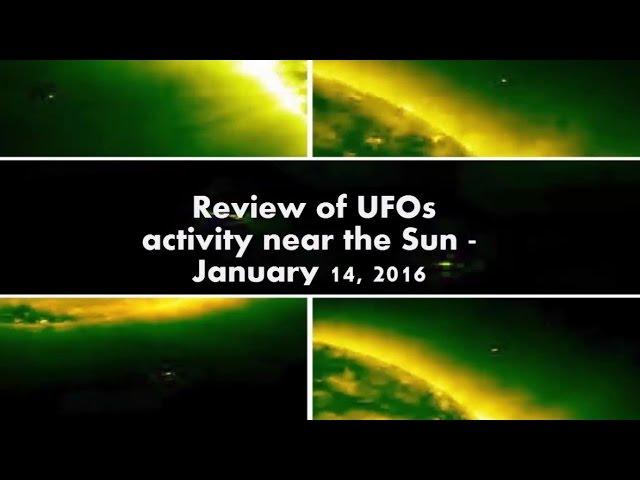 Видео НЛО возле солнца 14 января 2016