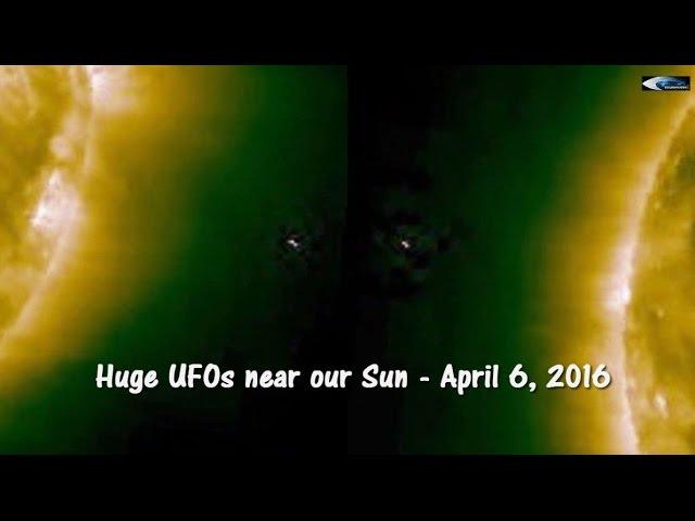НЛО у Солнца 6 апреля 2016