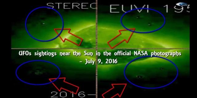 НЛО у Солнца 9 июля 2016