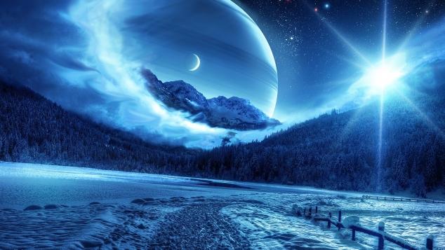 Далёкие планеты.  Космос. Вселенная.
