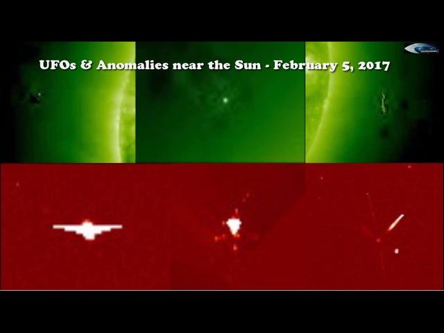 НЛО у Солнца 5 февраля 2017
