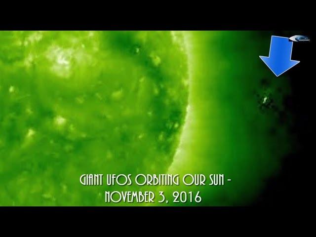 НЛО у Солнца 3 ноября 2016