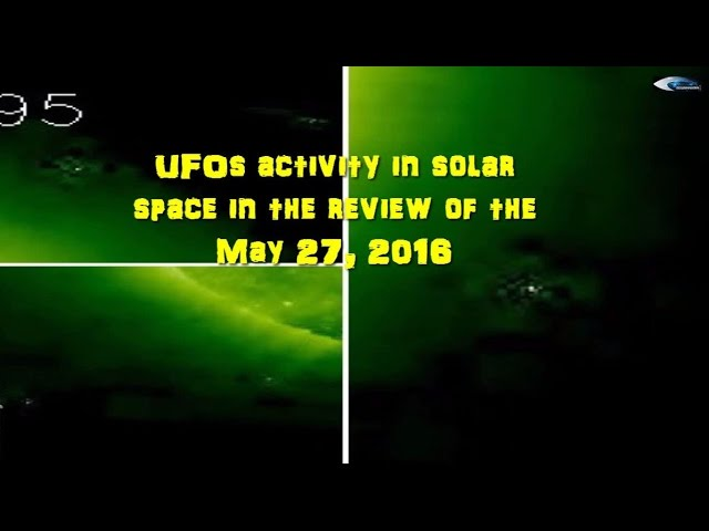НЛО у Солнца 27 мая 2016
