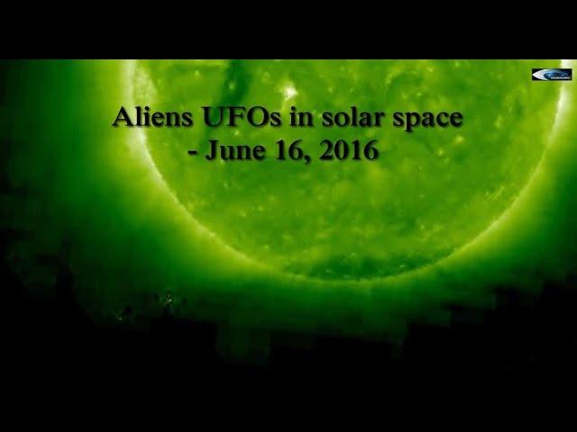 НЛО у Солнца 16 июня 2016