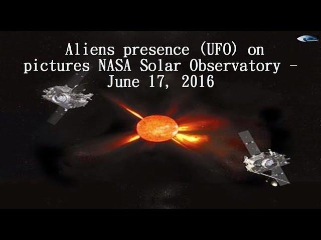 НЛО у Солнца 17 июня 2016