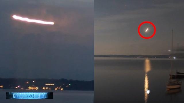 Видео сигарообразного НЛО в Бразилии